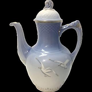 Vintage B&G Bing & Grondahl Porcelain Tea Pot Coffee Pot Seagull Pattern