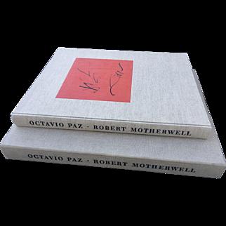 Artist Signed Three Poems Octavio Paz - Robert Motherwell, 1987 Limited Edition 248/750 Lithos