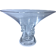 Stueben Crystal Glass Bouquet Vase By George Thompson