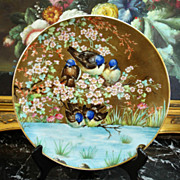 Rare 1868-1881 Limoges Haviland hand painted charger signed