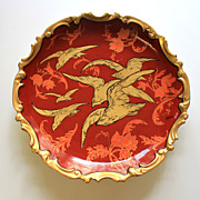 """13.5"""" Limoges Hand Painted charger/plate, artist signed """"Benoit"""",ca 1920s"""