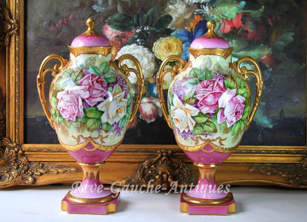 Limoges Vase Value Vase And Cellar Image Avorcor