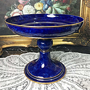 1884- 1885 French Sèvres Porcelain Coupe/ Standing cup, gold gilt & cobalt blue
