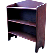 Early 1900s Solid Flame Crotch Mahogany Bucket Bench Bookcase Shelves