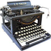 Rare Library Machine Age Industrial Office Early Form Vintage 1920s LC Smith and Corona Typewriter Needs Restoration and/or Cleaning