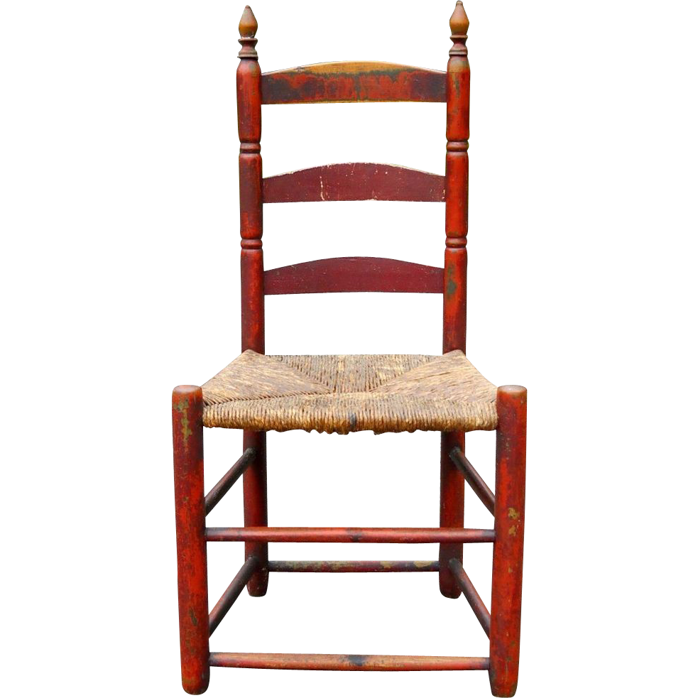 Antique shaker chairs - 18th Century New England Ladder Back Slat Back Chair