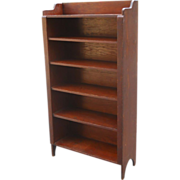 Vintage 1910 Rustic Craftsman Farmhouse Bungalow Primitive Mission Bookcase Cupboard Stand Cabinet Shelves