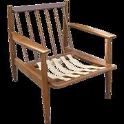 Vintage 1930s Danish Modern Signed Baumritter Walnut Wood Arm Chair