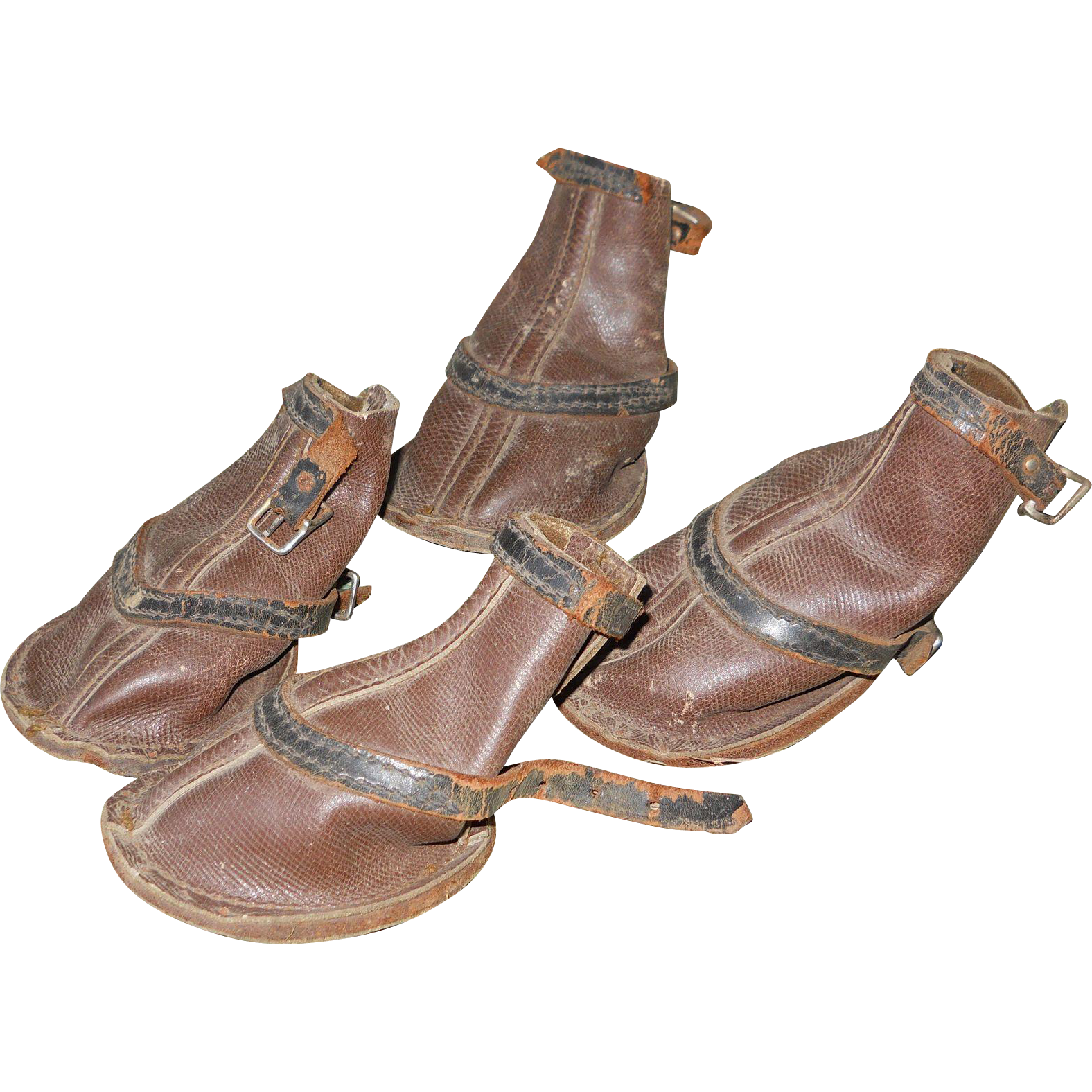 1940s paw brown leather boots from