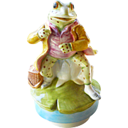 1977 Schmid Beatrix Potter Porcelain Frog Musical Figurine