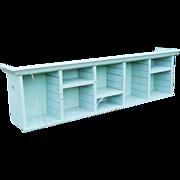 1940s Farmhouse Pigeon Hole Cubbyhole Organizer Country Bin Wall Shelf Cupboard