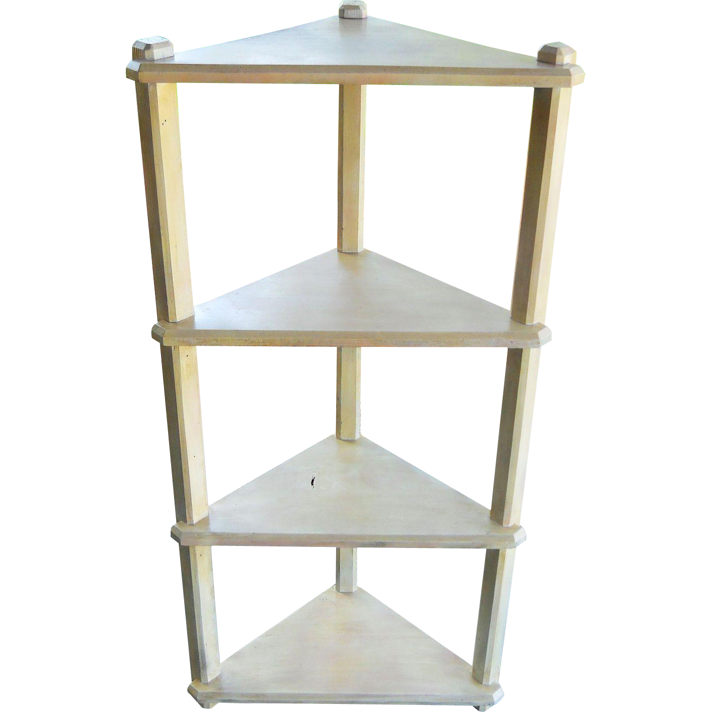 1940s corner wood garden plant stand etagere shelves from sirgunnisonsfarm on ruby lane - Corner shelf for plants ...
