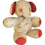 19th Century Victorian Stuffed Mohair Elephant Toy