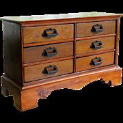 Antique Mercantile Counter Apothecary Cabinet Late 19th Century Country Desktop Organizer