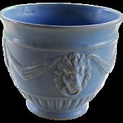 Weller Blue Lion Jardiniere Art Pottery Vase
