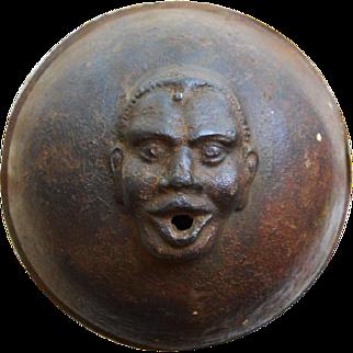 19th Century Black Memorabilia Rare String Holder Top