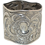 Russian Sterling Silver .875 Art Nouveau Napkin Ring St. Petersburg