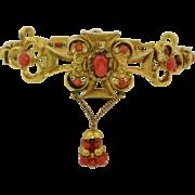Georgian 14K Russian Imperial Coral Bracelet