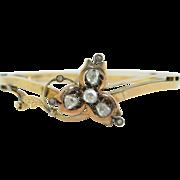 Georgian Rose Cut Diamond 10K Bracelet
