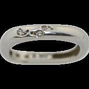 H.Stern 18K & Diamonds Square Band Ring