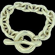 Massive 95.8 grams Sterling Silver Chunky Toggle Bracelet - Robert Lee Morris 925