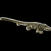 Sterling Silver Alligator Pin Brooch Very Fine Details