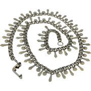 Victorian Sterling Silver Gothic Necklace