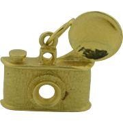 Vintage 14K Camera Charm 2 grams at scrap