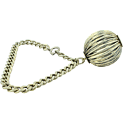 Retro Sterling Silver Massive Ball Dangle Bracelet by Danecraft