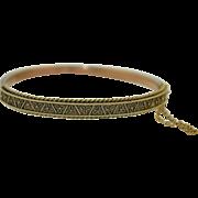Victorian Etruscan 15K Bracelet Bangle