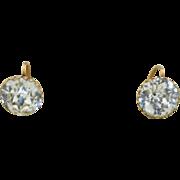 Georgian 9K Paste Petite French Hook Earrings