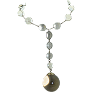 Pools of Light Sterling Silver Massive Orb Choker Necklace