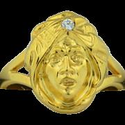 Victorian 10K Turban Sheik Man Conversion Ring sz 6