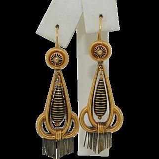 Victorian 14K Enamel Earrings Fabulous.