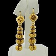Victorian 18k Long Day & Night Earrings