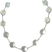 Pools of Light Sterling Silver and Rock Quartz Crystal Necklace 14mm