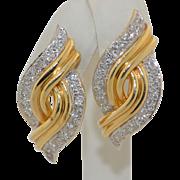 Amazing 14K Diamond Retro Earrings 2CTW