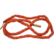 Victorian Natural Coral Necklace
