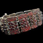 Early Victorian Rose Cut Garnet Bracelet