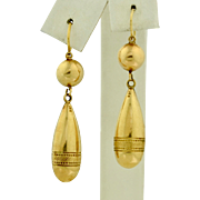 14K Victorian Dangle Drop Earrings