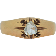 Victorian Rose Cut Diamond in 14K Gold Ring