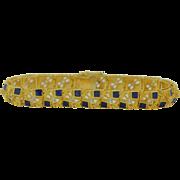 18K Enamel & Spinel Bracelet 29.9 grams