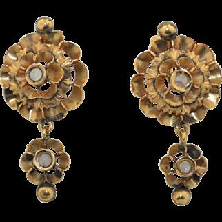 18K Victorian Rose Cut Spinel Earrings