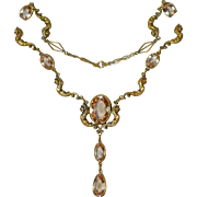 Amazing Art Nouveau Winged God Necklace