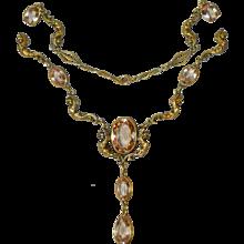Amazing Art Nouveau Winged God Necklace - Red Tag Sale Item