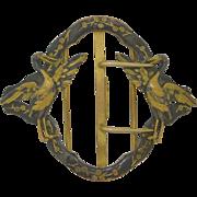 Art Nouveau Large French Gilt Bronze Belt Buckle
