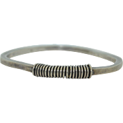 Artisan Signed Sterling Silver Bangle Bracelet Sondra L Cannon