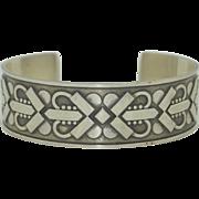 GEORG JENSEN Sterling Celtic Hearts Cuff Bracelet Denmark