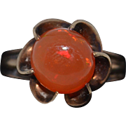 Vintage 14K Mexican Fire Opal ring