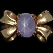 Retro 14K Lavender Star Sapphire Ring